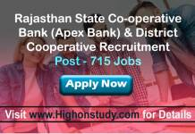 Rajasthan State Co-operative Bank (Apex Bank) and various District Cooperative Jobs
