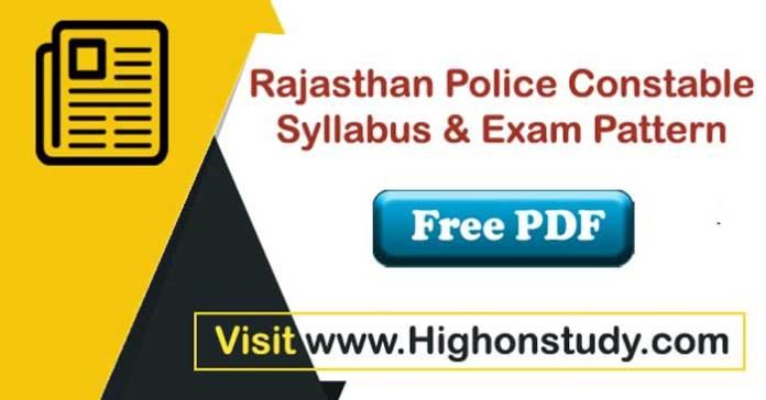 police constable Syllabus