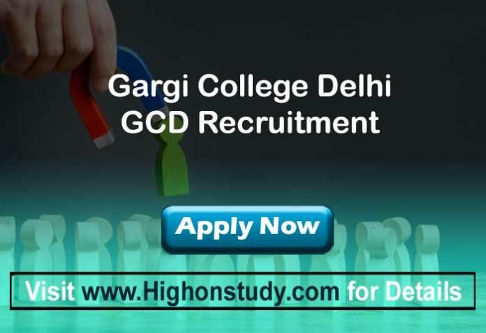 Gargi College Delhi jobs