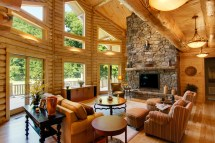 Log Cabin Home Interior Great Room