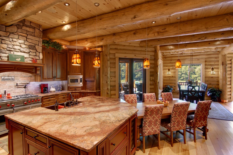 Log Home Interiors  High Peaks Log Homes