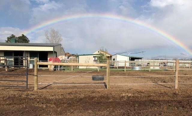 Rainbow Over Corrals