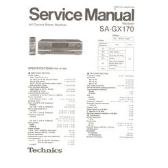 SA-GX170 Technics Service Manual HighQualityManuals.com