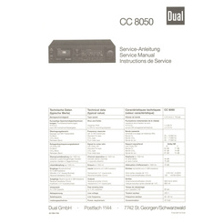CC 8050 Dual Service Manual HighQualityManuals.com
