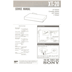 XT-20 Sony Service Manual HighQualityManuals.com