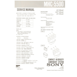 MHC-5500 Sony Service Manual HighQualityManuals.com