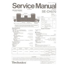 SE-CH570 Technics Service Manual HighQualityManuals.com