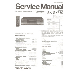 SA-GX530 Technics Service Manual HighQualityManuals.com