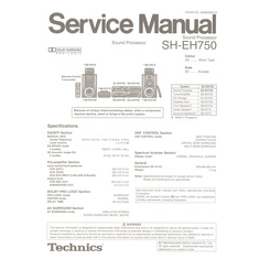 SH-EH750 Technics Service Manual HighQualityManuals.com