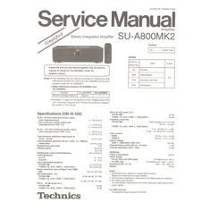 SU-A800MK2 Technics Service Manual HighQualityManuals.com
