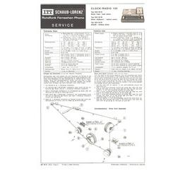 Clock-Radio 100 Schaub-Lorenz Service Manual