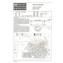 TINY 33 automatic Schaub-Lorenz Service Manual
