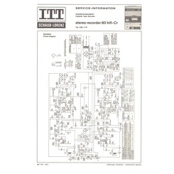 STEREO RECORDER 80 HiFi-Cr Schaub-Lorenz Service Manual