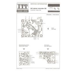 HiFi Stereo Recorder 88 Schaub-Lorenz Service Manual