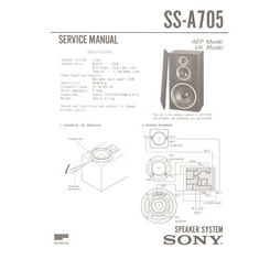 SS-A705 Sony Service Manual HighQualityManuals.com