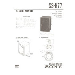 SS-H77 Sony Service Manual HighQualityManuals.com