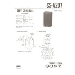 SS-A207 Sony Service Manual HighQualityManuals.com