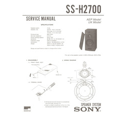SS-H2700 Sony Service Manual HighQualityManuals.com