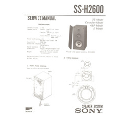 SS-H2600 Sony Service Manual HighQualityManuals.com