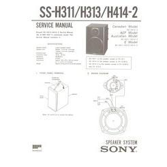 SS-H313 Sony Service Manual HighQualityManuals.com
