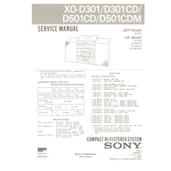 XO-D501CDM Sony Service Manual HighQualityManuals.com