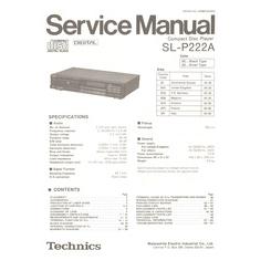 SL-P222A Technics Service Manual HighQualityManuals.com