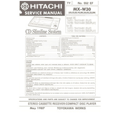 MX-W30 Hitachi Service Manual HighQualityManuals.com