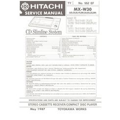 MX-W30 Hitachi Service Manual HighQualityManuals.com