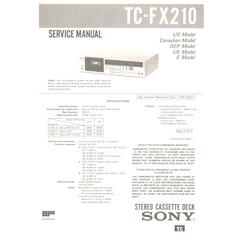 TC-FX210 Sony Service Manual HighQualityManuals.com