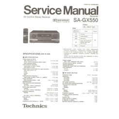 SA-GX550 Technics Service Manual HighQualityManuals.com
