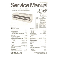 SA-Z50 Technics Service Manual HighQualityManuals.com