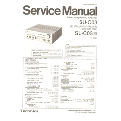 SU-C03/K Technics Service Manual HighQualityManuals.com