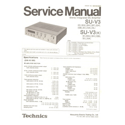 SU-V3/K Technics Service Manual HighQualityManuals.com