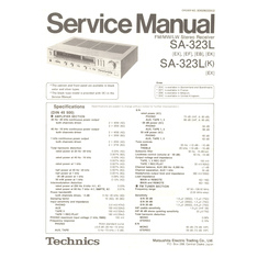 SA-323L/K Technics Service Manual HighQualityManuals.com