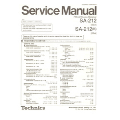 SA-212/K Technics Service Manual HighQualityManuals.com