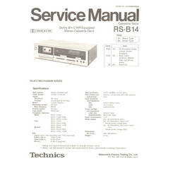 RS-B14 Technics Service Manual HighQualityManuals.com