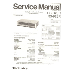 RS-B28R Technics Service Manual HighQualityManuals.com