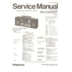 RX-CW200F National Service Manual HighQualityManuals.com
