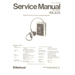 RX-S70 National Service Manual HighQualityManuals.com
