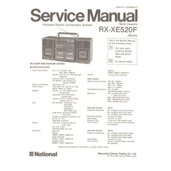 RX-XE520F National Service Manual HighQualityManuals.com