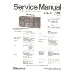 RX-XE520F National Service Manual HighQualityManuals.com