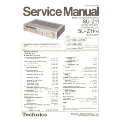 SU-Z11/K Technics Service Manual HighQualityManuals.com