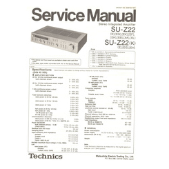 SU-Z22/K Technics Service Manual HighQualityManuals.com
