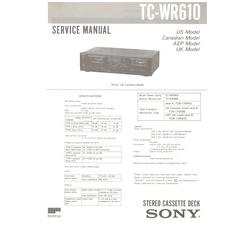 TCWR610 Sony Service Manual HighQualityManuals