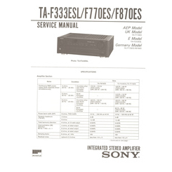 TA-F770ES Sony Service Manual HighQualityManuals.com