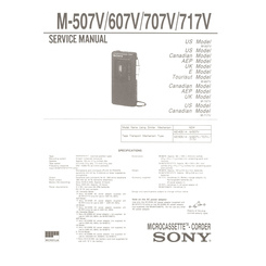 M-607V Sony Service Manual HighQualityManuals.com