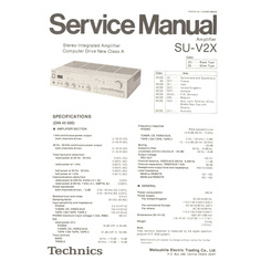 SU-V2X Technics Service Manual HighQualityManuals.com