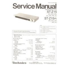 ST-Z15 Technics Service Manual HighQualityManuals.com