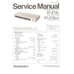 ST-Z15L Technics Service Manual HighQualityManuals.com