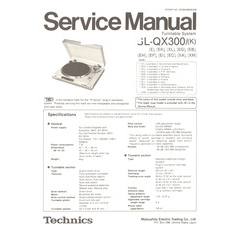 SL-QX300/(K) Technics Service Manual HighQualityManuals.com